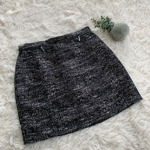 NWT H&M Black and White Tweed Miniskirt